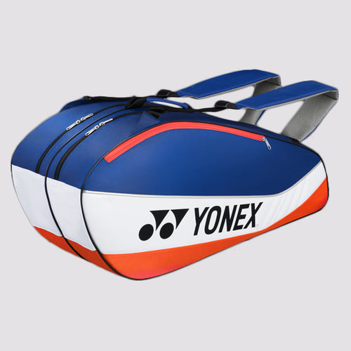 2015 YONEX BADMINTON RACKET BAG 5526EX - BLUE/ORANGE [6 PCS]