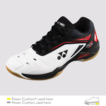 Load image into Gallery viewer, 2018 YONEX POWER CUSHION 65Z MEN BADMINTON SHOES - WHITE/RED
