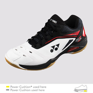 2018 YONEX POWER CUSHION 65Z MEN BADMINTON SHOES - WHITE/RED