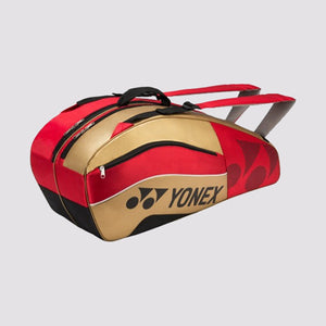 2015 YONEX PRO BADMINTON RACKET BAG 8526EX - RED/GOLD [6 PCS]
