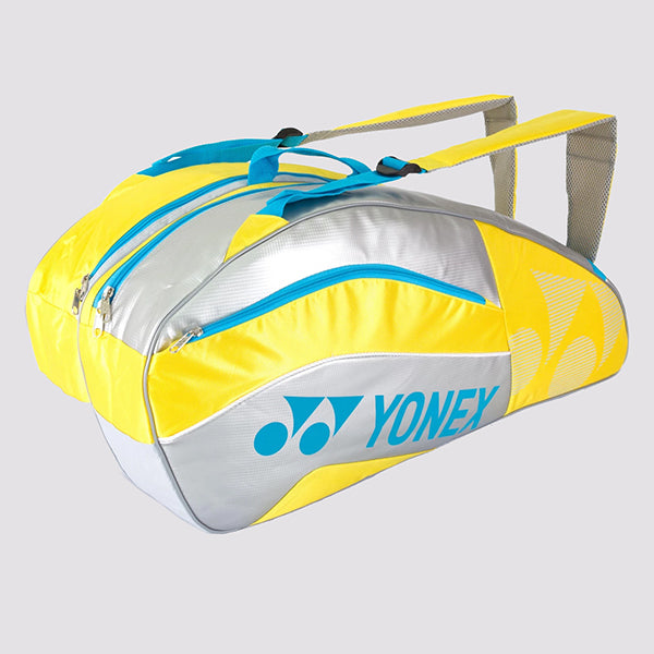 2015 YONEX PRO BADMINTON RACKET BAG 8526EX - YELLOW [6 PCS]