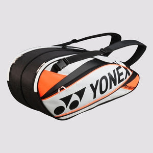 2015 YONEX PRO BADMINTON RACKET BAG 9526EX - WHITE/ORANGE [6 PCS]