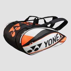 2015 YONEX PRO BADMINTON RACKET BAG 9529EX - WHITE/ORANGE [9 PCS]