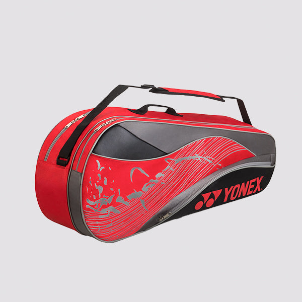 2018 YONEX TEAM SERIES BADMINTON RACKET BAG 4826 - RED [6 PCS]