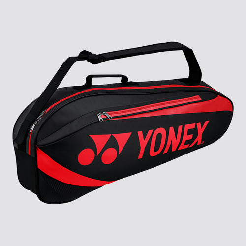 2019 YONEX ACTIVE BADMINTON RACKET BAG 8923 - BLACK/RED [3 PCS]
