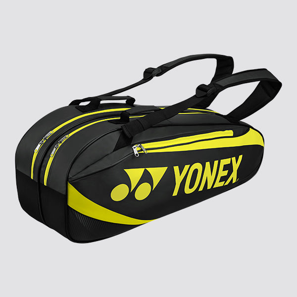 2019 YONEX TOURNAMENT ACTIVE SERIES BAG 8926 - BLACK/LIME [6 PCS]