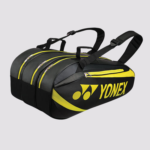 2019 YONEX ACTIVE BADMINTON RACKET BAG 8929 - BLACK/LIME [9 PCS]