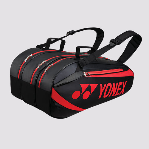 2019 YONEX ACTIVE BADMINTON RACKET BAG 8929 - BLACK/RED [9 PCS]