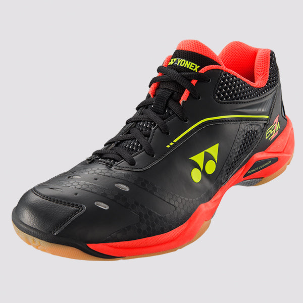 2018 YONEX POWER CUSHION 65Z MEN BADMINTON SHOES - BLACK/RED