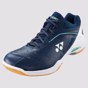 2018 YONEX POWER CUSHION 65Z WIDE BADMINTON SHOES - NAVY/WHITE