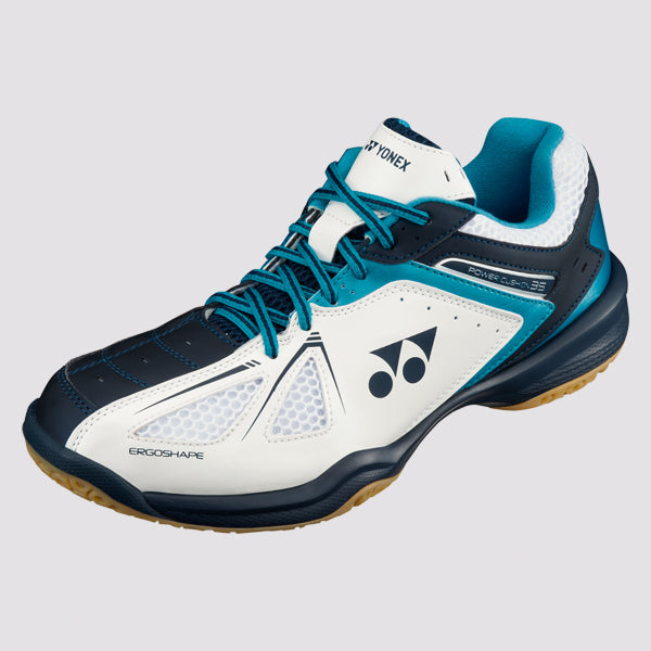 2018 YONEX POWER CUSHION 35 BADMINTON SHOES - WHITE/SKY BLUE