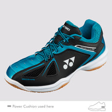 Load image into Gallery viewer, 2018 YONEX POWER CUSHION 35 BADMINTON SHOES - BLACK/BLUE