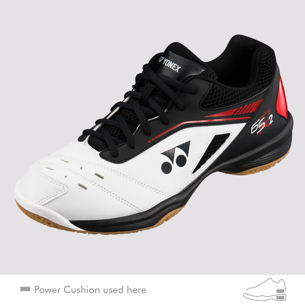 2018 YONEX POWER CUSHION 65R2 BADMINTON SHOES - WHITE/RED