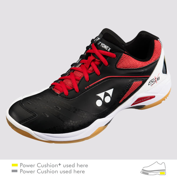 2018 YONEX POWER CUSHION 65X MEN BADMINTON SHOES - BLACK/RED