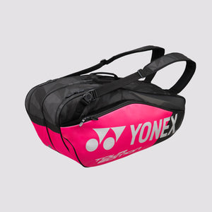 2018 YONEX PRO REPLICA BADMINTON RACKET BAG 9826EX - BLACK/PINK [6 PCS]