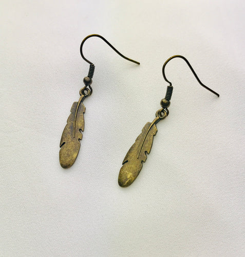 Antique Feather Earrings