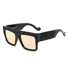 Load image into Gallery viewer, Absolute Sensation - Large Thick Square Frame Oversized Sunglasses with Glitter