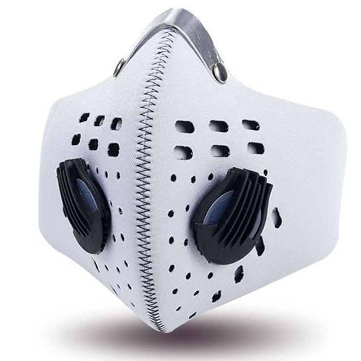 Anti-Pollution Sport Mask - Neoprene, Carbon Filtration, Anti-Bacterial, Double Breathing Valves, Earloop Option
