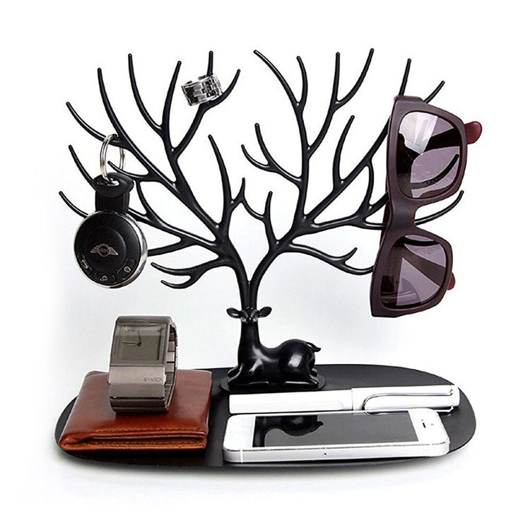 Majestic Stag - Personal Deer Antler Jewelry Display Stand, Decorative Accessory Organizer