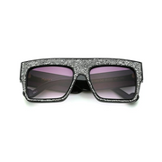 Absolute Sensation - Large Thick, Square Frame Oversized Sunglasses with Glitter