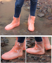 Load image into Gallery viewer, Transparent Waterproof Shoe Protection - Reusable Non-Slip Rain Boot Tubes