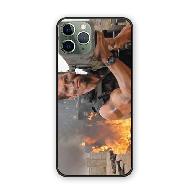 Arnold Schwarzenegger Commando iPhone Case - Silicone Protector for iPhone 11, 12, Pro, Pro MAX, Mini