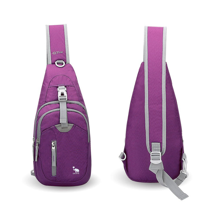 Mini Crossbody Sport Sling Bag - Unisex Lightweight Nylon Messenger Bag in Black, Blue, or Purple