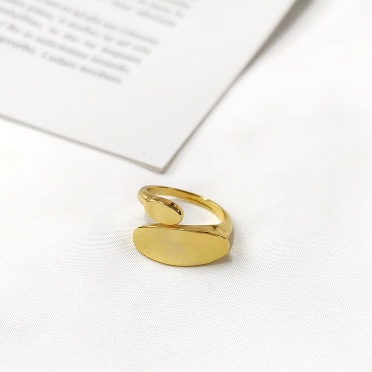Ladies Geometric Minimal Stacking Ring   - Open, Adjustable, Vintage Fashion Ring