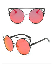 Load image into Gallery viewer, Feline Intelligence - Women's Oversized Round Sunglasses, with Crossbar