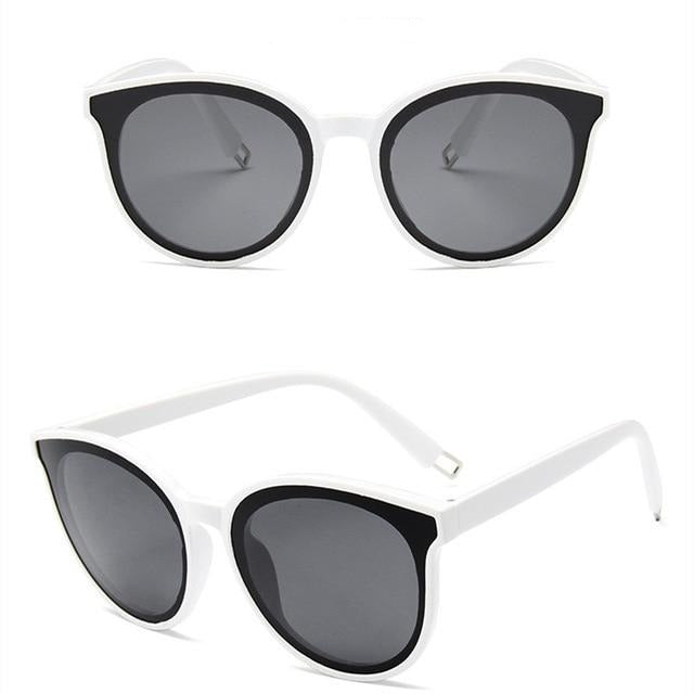 Toodles - Women's Oversized Cat Eye Sunglasses, Textured Frame, Mirror Lens