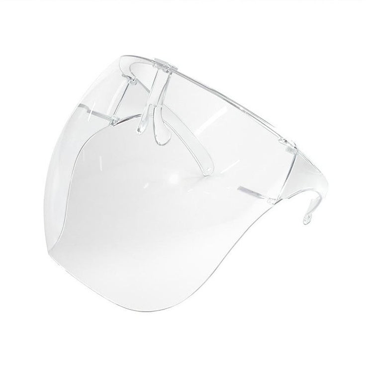 Cyber Sphere - Women's Large Rounded Face Shield Visor, Full Coverage Fashionable Clear Transparent Anti-Spray Face Protection
