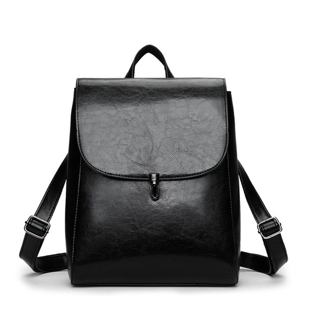 Women's PU Leather Fashion Backpack - Casual Urban Bag
