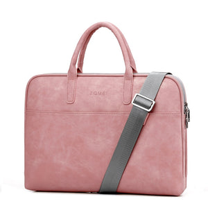 Women's PU Leather Laptop Bag - Large Capacity Notebook Messenger