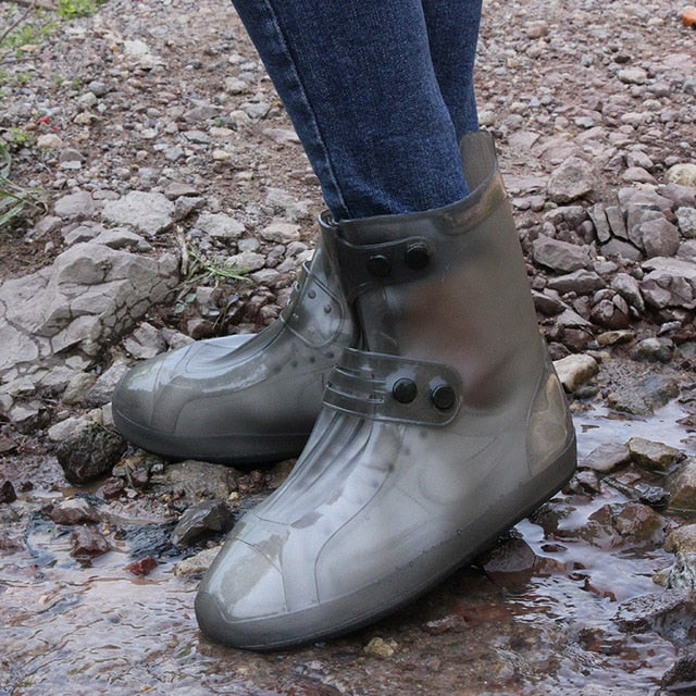 Transparent Waterproof Shoe Protection - Reusable Non-Slip Rain Boot Tubes