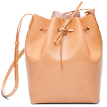 Load image into Gallery viewer, Women's Genuine Leather Bucket Bag - With Shoulder Strap