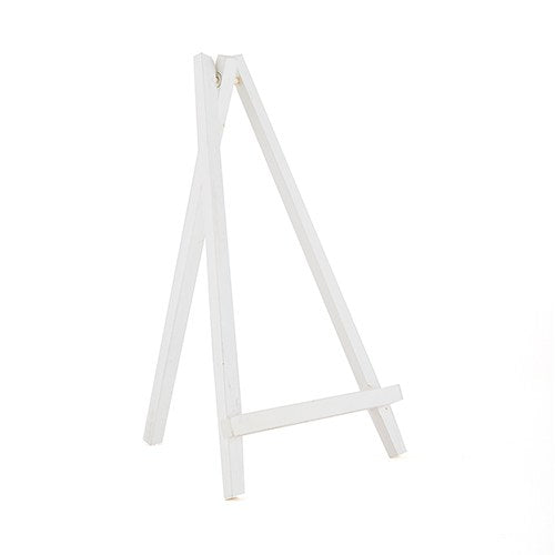 White Wooden Easels - Wedding Wonders