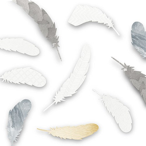 Decorative Paper Feather Assortment (18) - Wedding Wonders
