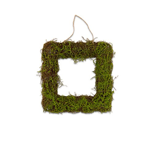 Faux Moss and Wicker Square Frame - Wedding Wonders