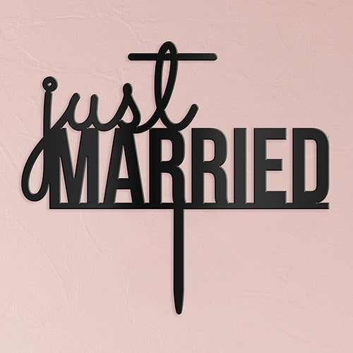 Just Married Acrylic Cake Topper - Wedding Wonders