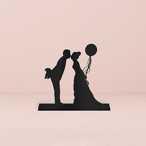 Leaning in Silhouette Acrylic Cake Topper - Wedding Wonders