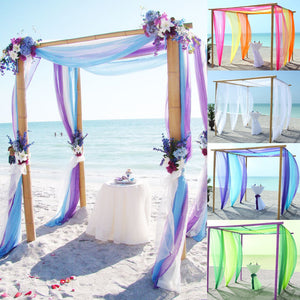 Tulle Beach Wedding Arch Fabric Decoration - ${product type}