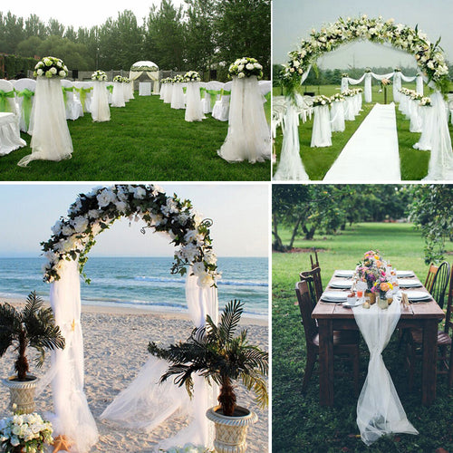Tulle Wedding Arch Fabric Decoration - Wedding Wonders