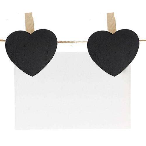 Heart Shape Mini Chalboards (10) - Wedding Wonders