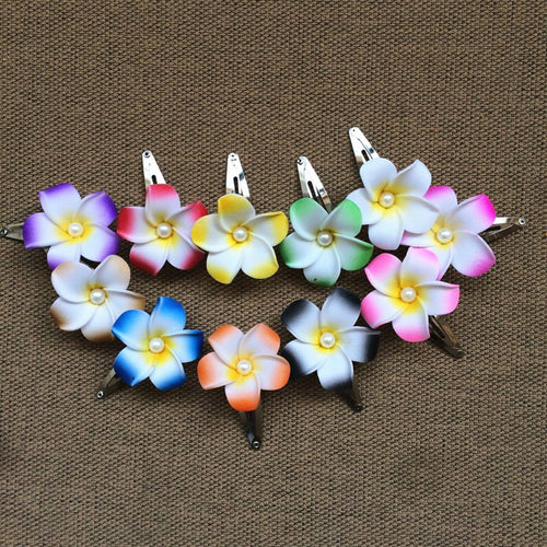 Frangipani Mixed Flower Hair Clip (12) - ${product type}