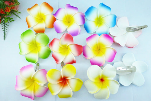 Frangipani Mixed Flower Hair Clip (20) - ${product type}