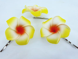 Frangipani Flower Hair Clip (10) - ${product type}