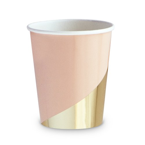 Gold Colorblock Party Cups (8) - Wedding Wonders