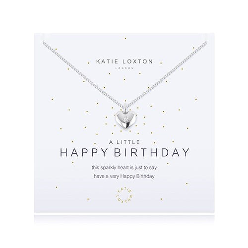 A Little Happy Birthday Silver Necklace - Wedding Wonders