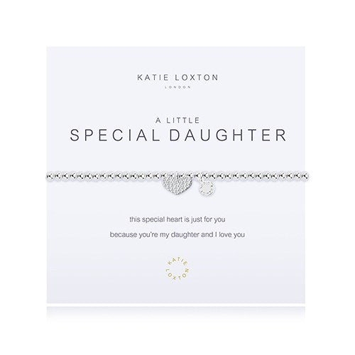 A Little Special Daughter Silver Bracelet - Wedding Wonders