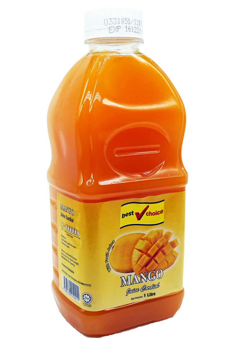 Best Choice Cordial (Btls) 12 x 1L Mango